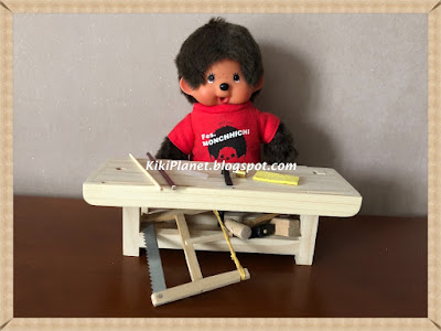 kiki monchhichi do it yourself, diy, tutorial, miniatures poupée, balai handmade, fait main