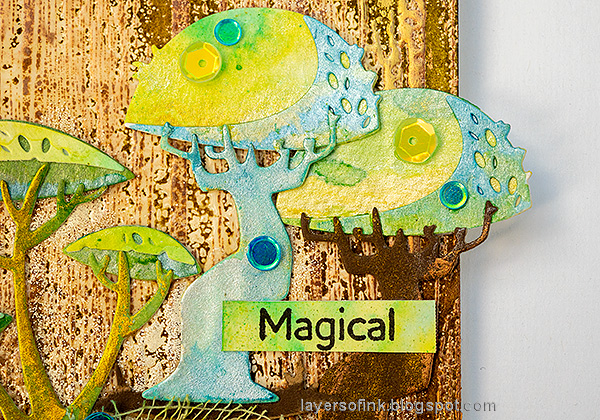 Layers of ink - Mushroom Forest Tag Tutorial by Anna-Karin Evaldsson.