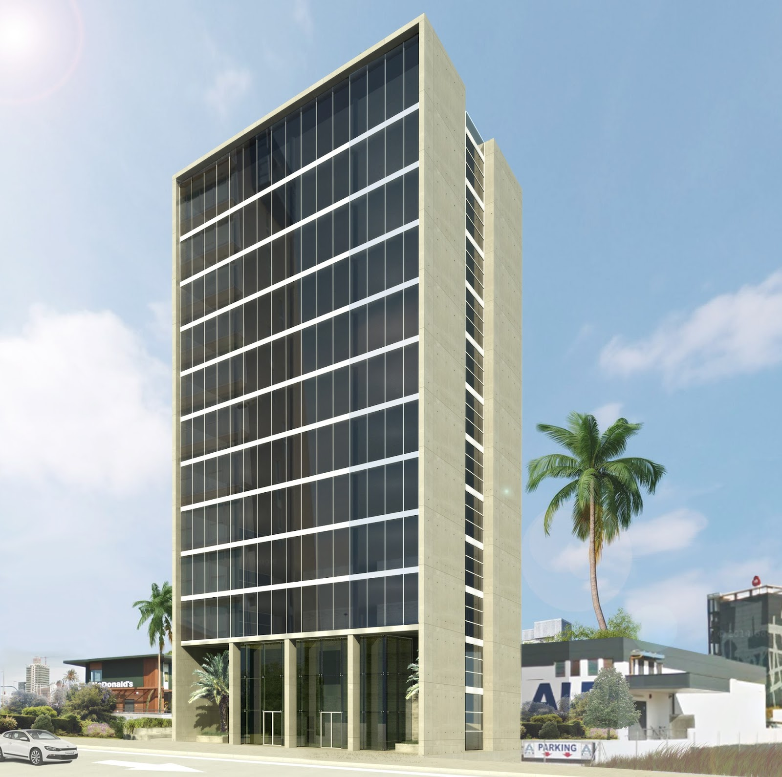 Isasa arquitectos murcia edificio de oficinas en mariano for Edificio oficinas