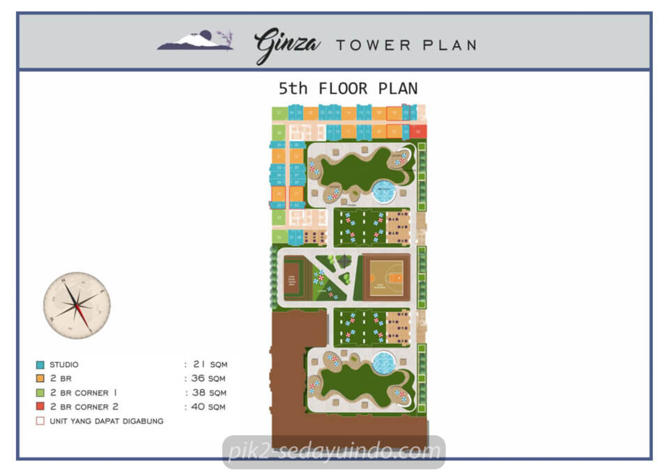 Floor Plan Tower GINZA Tokyo Riverside