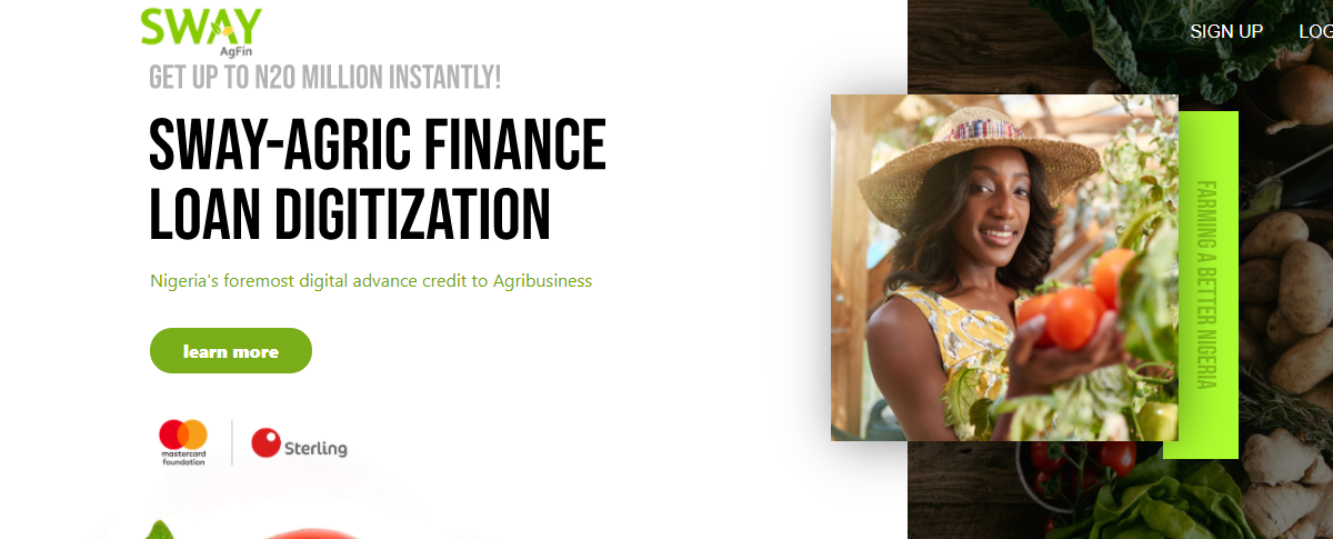 SWAY AgFin Loan Application (Easily get up to 20 million naira loan for your Business) in Partnership with Mastercard Foundation