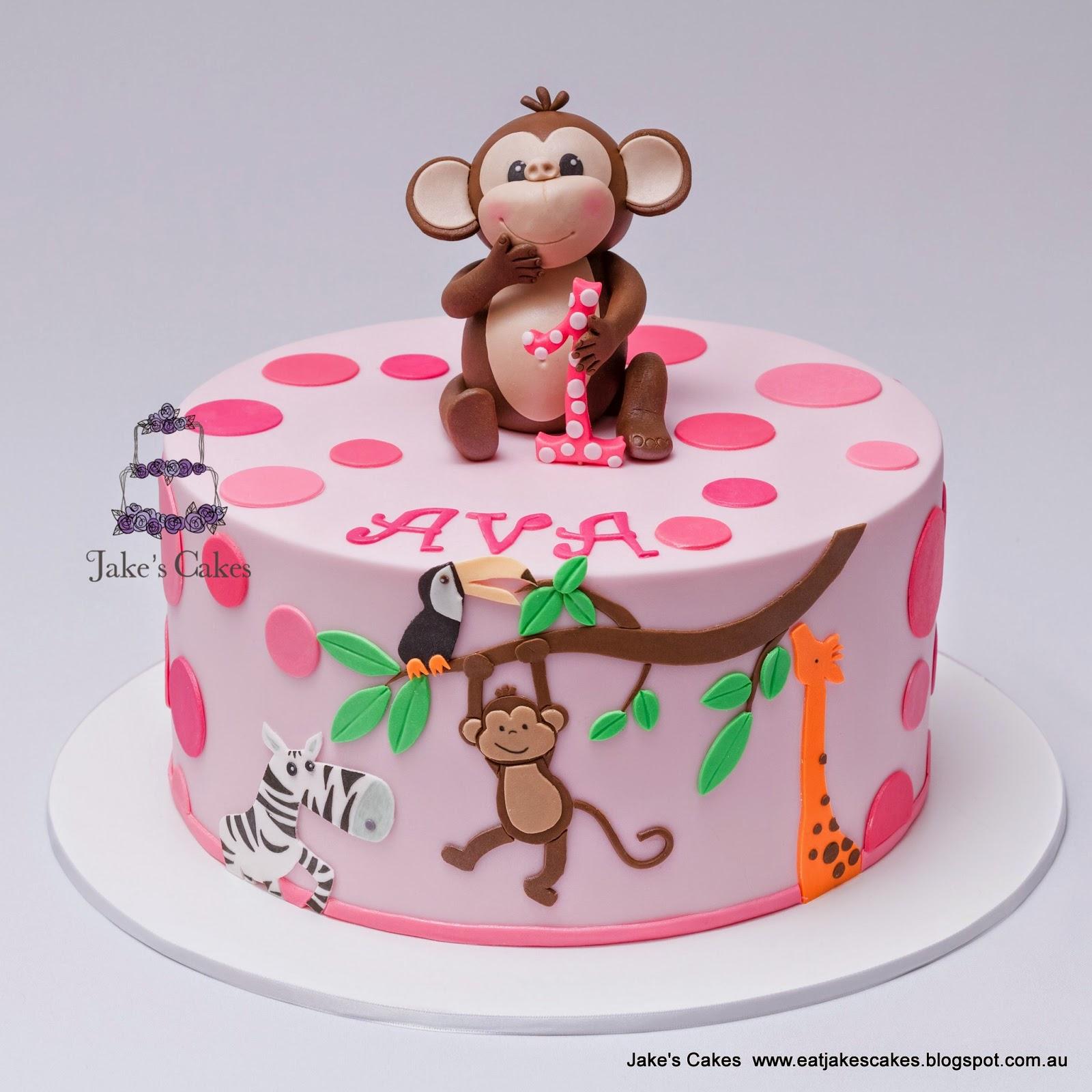Cheeky Monkey First Birthday Cake