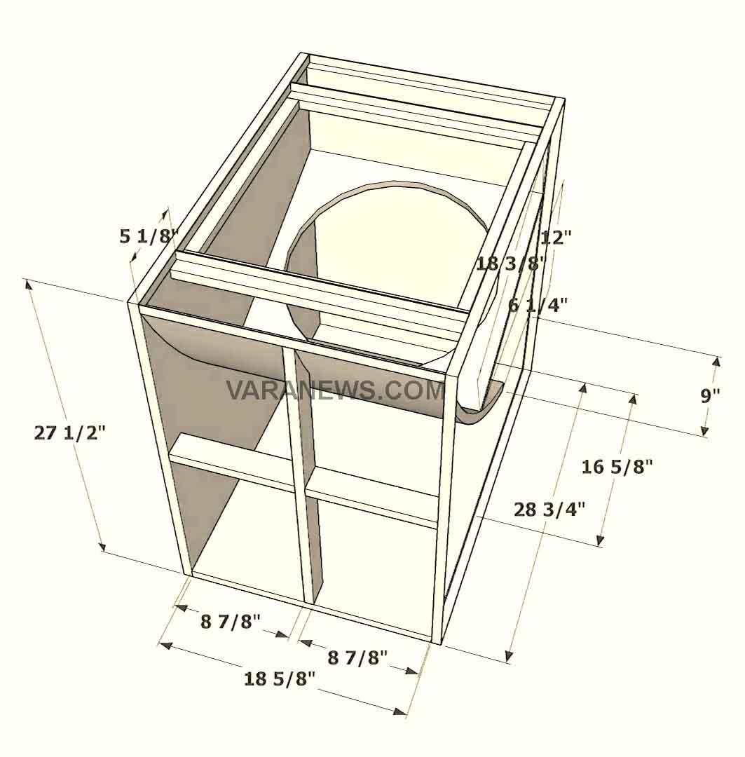 Skema Box Speaker Turbo 18 Inch Bass Jauh
