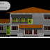 مخطط مشروع مسكن عائلي كبير دوبلكس اوتوكاد dwg