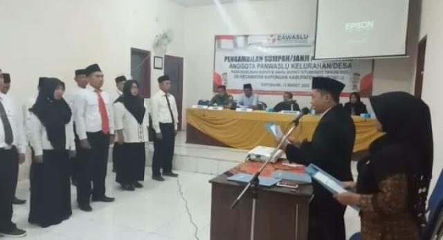 Anggota PKD se-Kecamatan Kapongan Resmi Dilantik, Ketua Panwaslu Kecamatan Kapongan Harapkan Sinergitas
