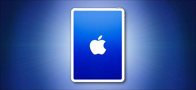 مخطط iPad على بطل خلفية زرقاء