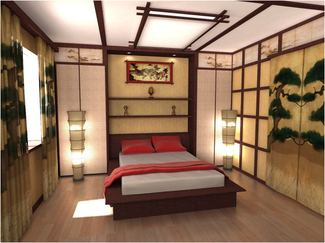 Asian Chinese Minimalist Small Modern Bedroom Design Ideas