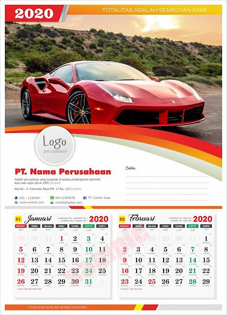 Download Templat desain Kalender 2020 lengkap penanggalan ...