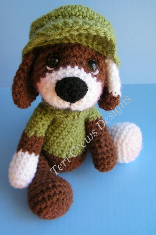 Teris Blog Simply Cute Dog Crochet Pattern Now Available As