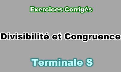 Exercices Corrigés de Divisibilité et Congruences Terminale S PD