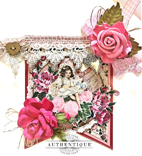 Romantic Banner for Valentine's Day Authentique Romance by Kathy Clement