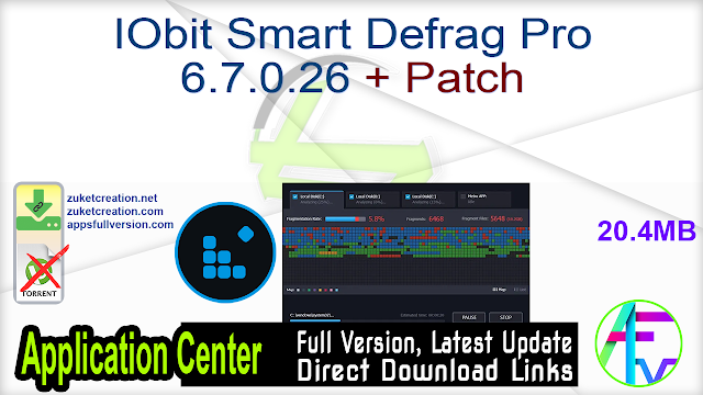 IObit Smart Defrag Pro 6.7.0.26 + Patch