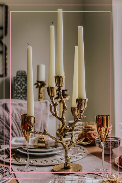 Anthropologie Gold Twig Candelabra