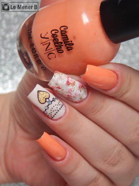 salmon nail art
