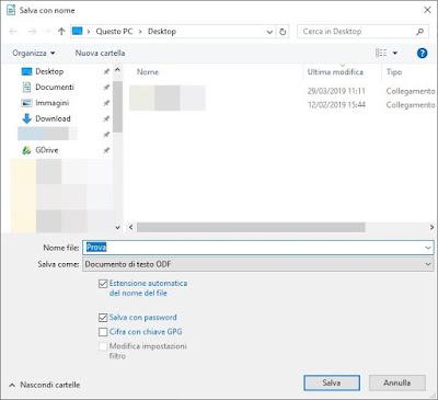 Accesso LibreOffice