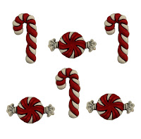 Candy Cane Buttons