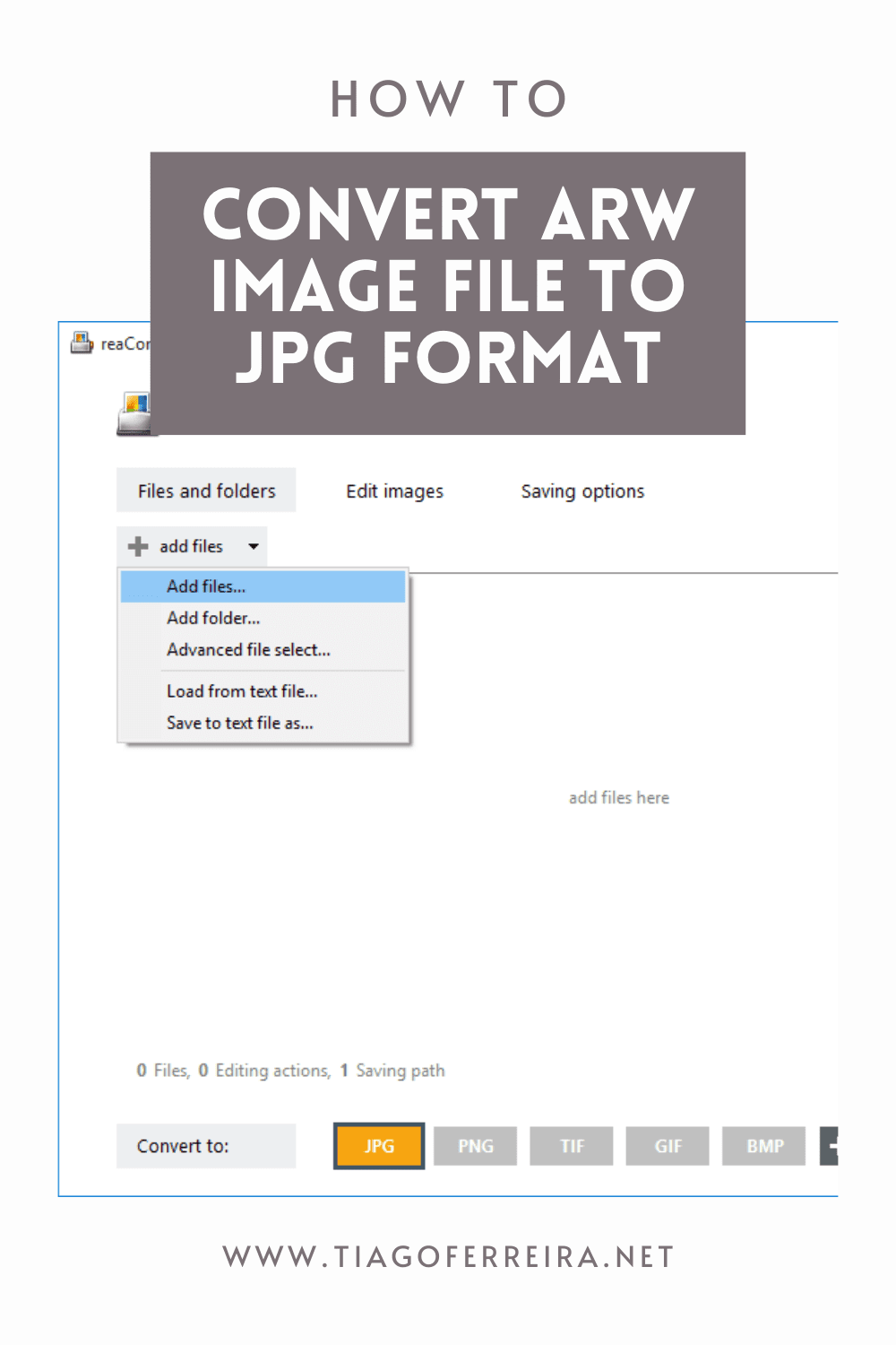 How To Convert ARW Image File To JPG Format