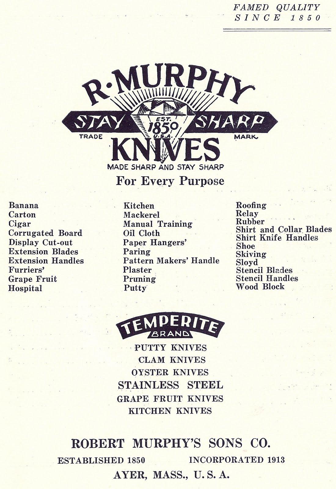 R. Murphy Knife Company: Company History