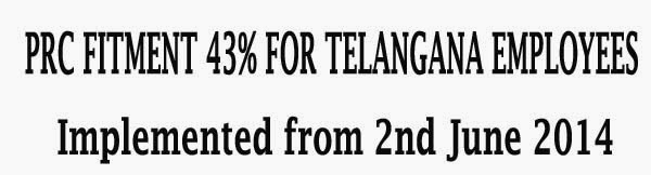 prc fitment in telangana state,10th PRC fitment 43%,Telangana PRC Fitment,10th PRC 43% Fitment for Telangana Employees Teachers,10th PRC 43% Fitment. ,Pay Revision Commission (PRC), Telangana employees to get 43 per cent salary fitment, Chief Minister KCR announces hike Telangana PRC Fitment 43%. Telangana Govt Fitment 43%. Telagnana 43% Fitment G.O. Telangana Govt Employees Pensioners Fitment G.O