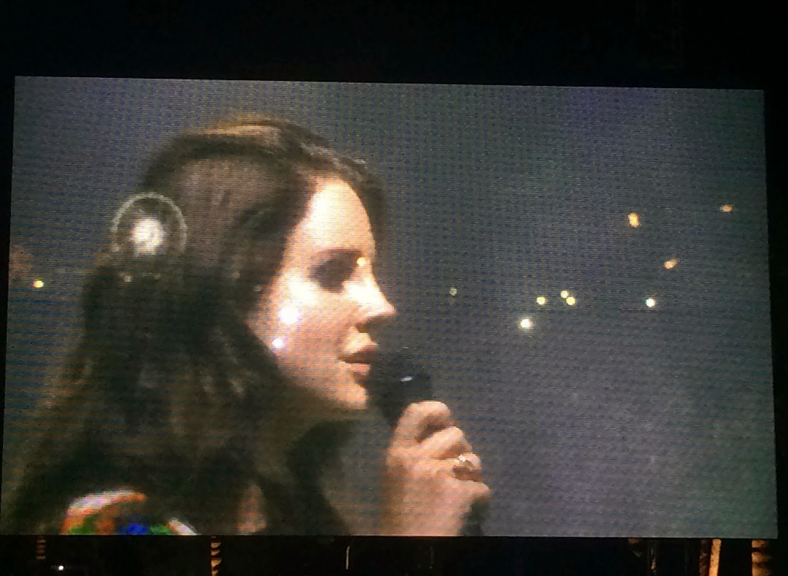Lana Del Ray performing at Coachella