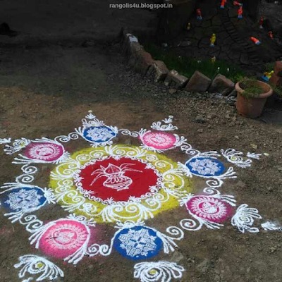 Makar Sankranti Rangolis