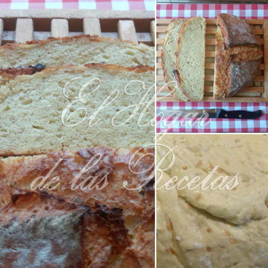 Pan de maíz con semillas de lino