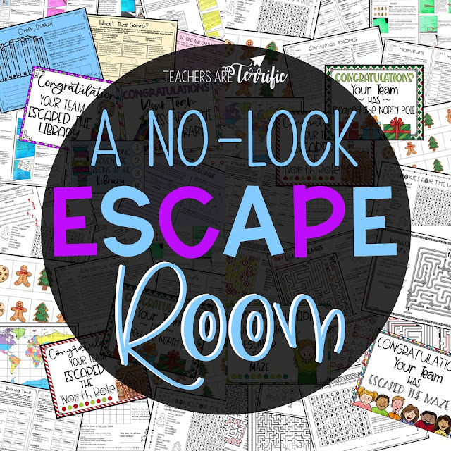 Are you ready for Escape Rooms with no locks! Just print and go! This post has the details for several Escape Rooms and the STEM Challenges that accompany each one. #teachersareterrific #STEM #escaperoom #elementary