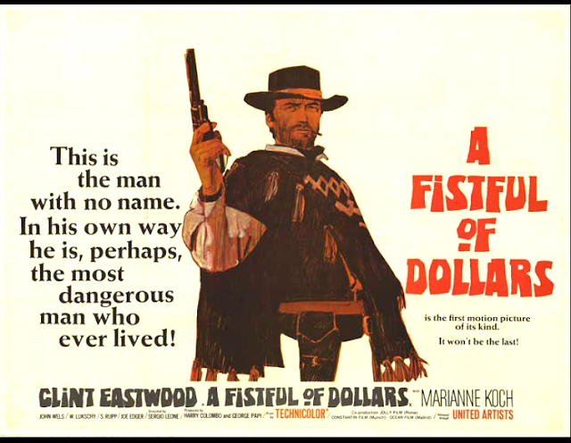 Poster for A Fisful of Dollars (1964). No clue who owns the rights to the image of this poster...