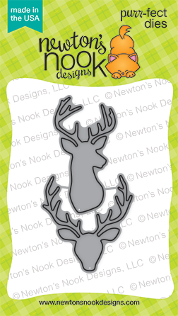 Splendid Stags purr-fect die set | Stag/deer shape | Newton's Nook Designs #newtonsnook