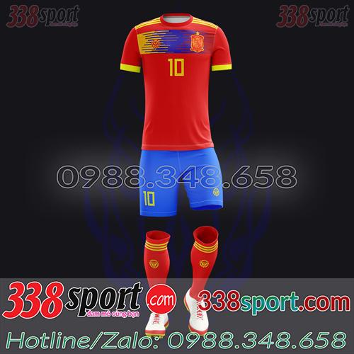 Áo Đội Tuyển Tây Ban Nha Đặt May Theo Yêu Cầu - Mã TBN 01