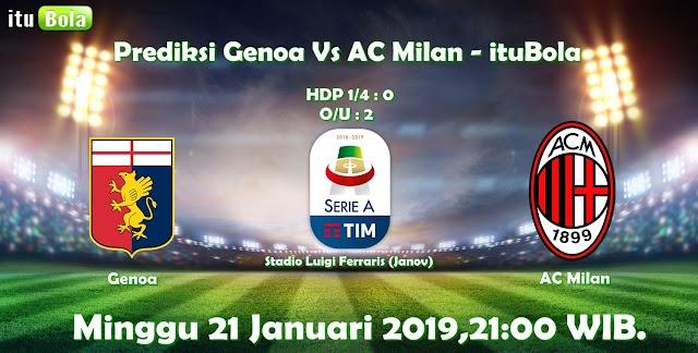 Prediksi Genoa Vs AC Milan - ituBola