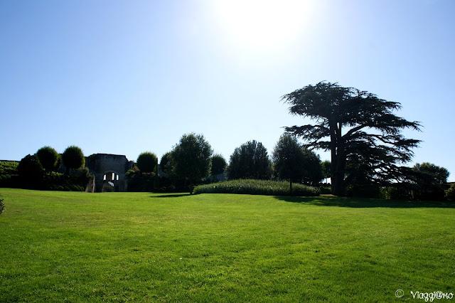 Il bel parco sulla terrazza del Palazzo Reale