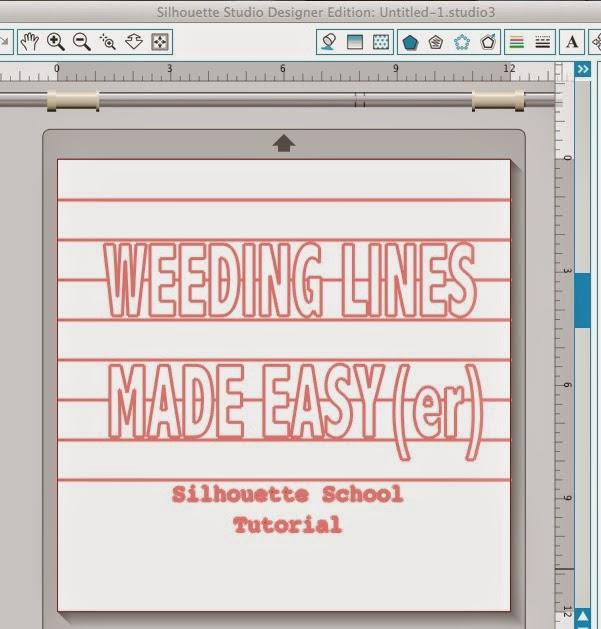 Silhouette, weeding lines, steps for beginners, beginners, Silhouette tutorial