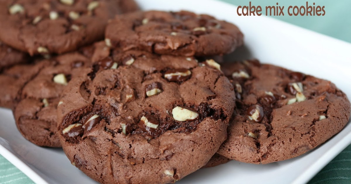 In A Far Away Kitchen Andes Mint Cake Mix Cookies