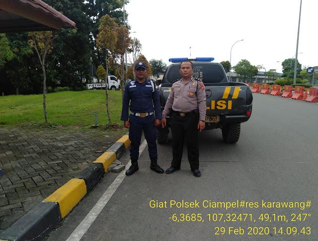 Antisipasi C3 Patroli Sabhara Polsek Ciampel Polres Karawang Himbau Security