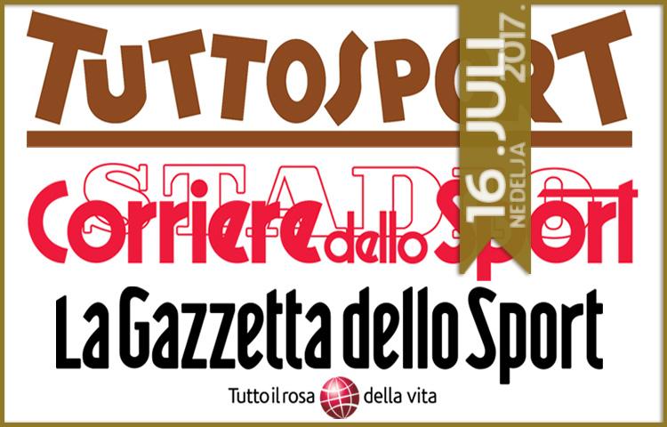 Italijanska štampa: 16. juli 2017. godine