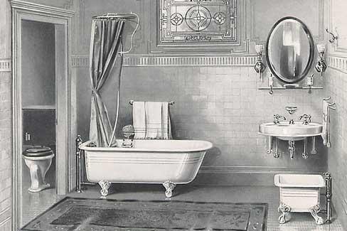 Malowany Kokon Łazienka W Stylu Vintage