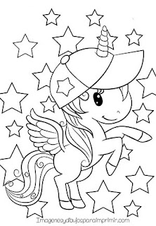 dibujo de unicornio para colorear