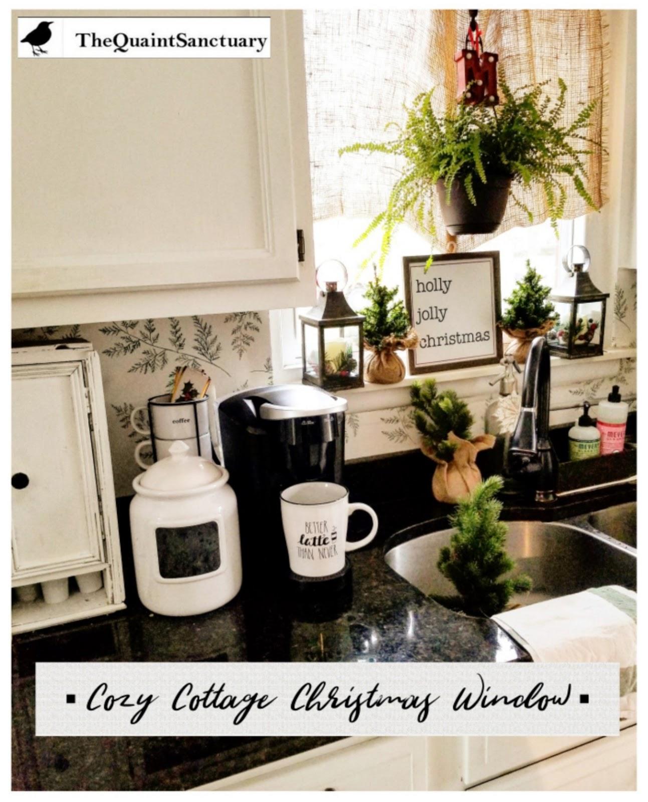 The Quaint Sanctuary: { Cozy Cottage Christmas Kitchen ...