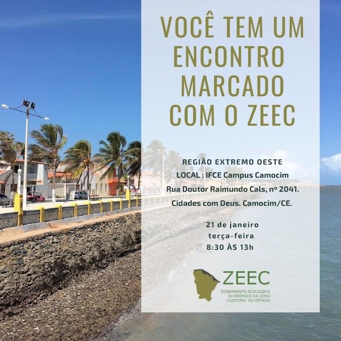 Zoneamento Ecológico-Econômico da Zona Costeira do Estado - ZEEC, acontece no dia 21 de Janeiro em Camocim.