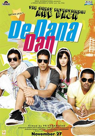 De Dana Dan 2009 Full Hindi Movie Download BRRip 720p ESub