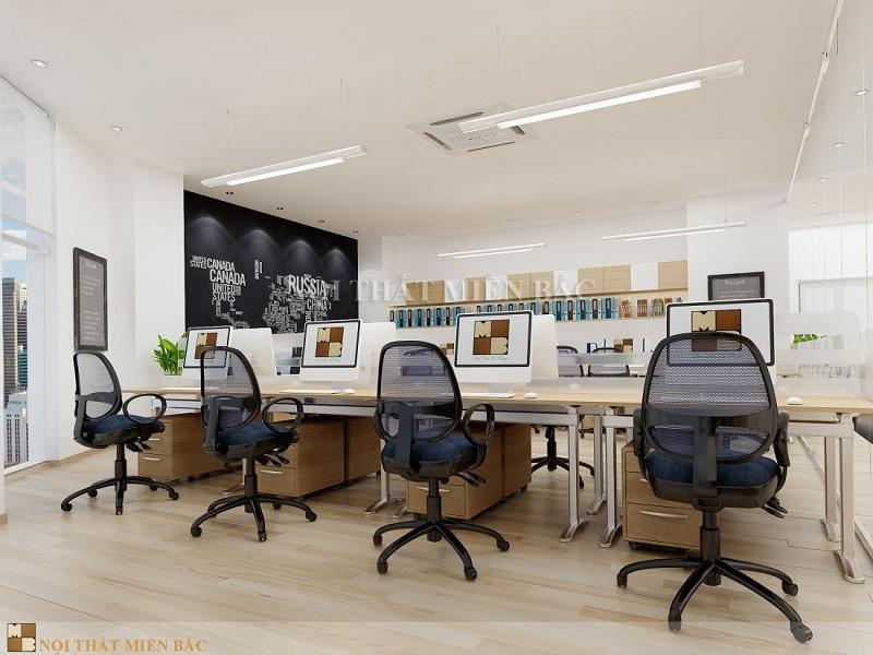 Thiết kế văn phòng chuyên nghiệp sử dụng gỗ công nghiệp