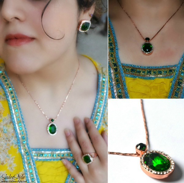 Emerald Icon Jewellery set by Catwalk Glamour