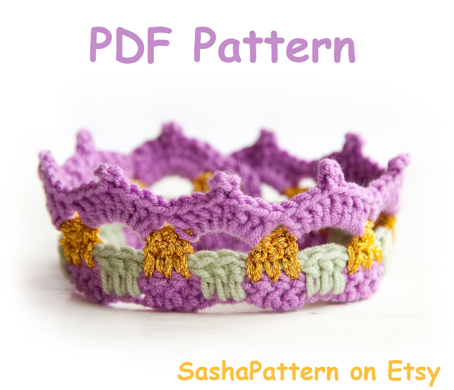 Crochet Free Pattern Promotion Shop For Promotional: Sasha Patterns: 3 SIMPLE Crochet Baby Crowns Pattern