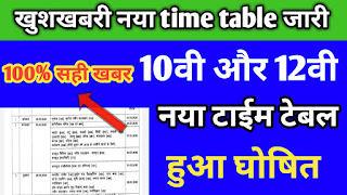 छतीसगढ New time table class 10th 12th 2020