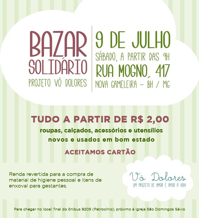 90c7544a91d Bazar solidário Vó Dolores - 9 de julho
