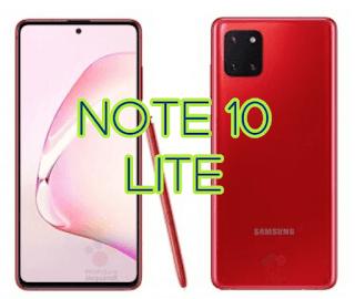 Display of Samsung Galaxy Note 10 Lite