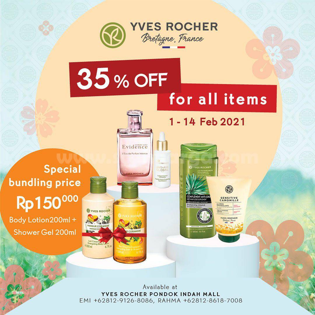 YVES ROCHER Promo Chinese New Year! Get 35% Off for All Items