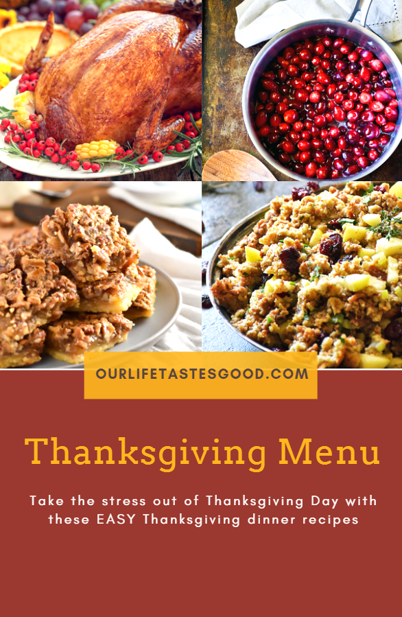 Thanksgiving Dinner Menu and Recipes graphic
