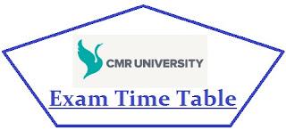 CMR University Exam Date Sheet 2020